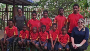 Upper Primary with four Lower Primary Students